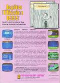 Jupiter Mission 1999 Commodore 64 Back Cover