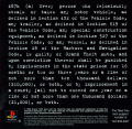Grand Theft Auto PlayStation Inside Cover Left Side