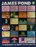 James Pond 3: Operation Starfish Amiga Back Cover