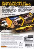 DiRT Xbox 360 Back Cover