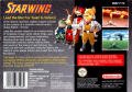 Star Fox SNES Back Cover