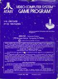 Space Invaders Atari 2600 Back Cover