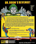 The Amazing Spider-Man and Captain America in Dr. Doom's Revenge! Commodore 64 Back Cover