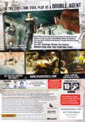 Tom Clancy's Splinter Cell: Double Agent Xbox 360 Back Cover