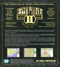 Empire II: The Art of War DOS Back Cover