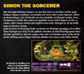 Simon the Sorcerer DOS Back Cover