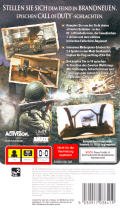 Call of Duty: Roads to Victory PSP Back Cover