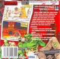 Comix Zone Game Boy Advance Back Cover