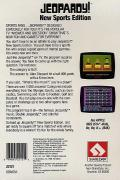 Jeopardy! New Sports Edition Apple II Back Cover