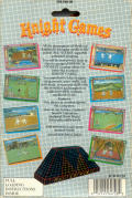 Knight Games Commodore 64 Back Cover