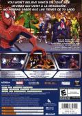 Spider-Man: Friend or Foe Xbox 360 Back Cover