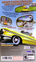 Crazy Taxi: Fare Wars PSP Back Cover