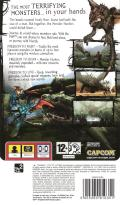 Monster Hunter Freedom PSP Back Cover