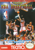 Tecmo NBA Basketball NES Front Cover