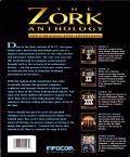 The Zork Anthology DOS Back Cover