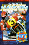 Super Hang-On Commodore 64 Front Cover