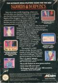 Swords and Serpents NES Back Cover