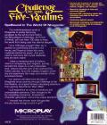Challenge of the Five Realms DOS Back Cover