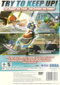 Sonic Riders PlayStation 2 Back Cover
