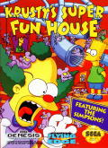 Krusty's Fun House Genesis Front Cover