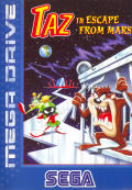 Taz in Escape from Mars Genesis Front Cover