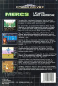 Mercs Genesis Back Cover