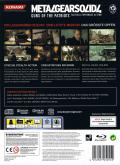 Metal Gear Solid 4: Guns of the Patriots (Limited Edition) PlayStation 3 Back Cover