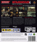 Metal Gear Solid 4: Guns of the Patriots PlayStation 3 Back Cover