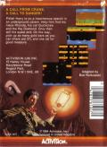 Pitfall II: Lost Caverns MSX Back Cover