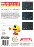 Pac-Man NES Back Cover
