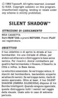 Silent Shadow MSX Inside Cover Right
