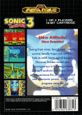 Sonic the Hedgehog 3 Genesis Back Cover