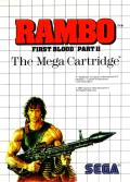 Rambo: First Blood Part II SEGA Master System Front Cover