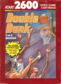 Double Dunk Atari 2600 Front Cover