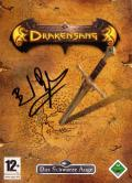"The Dark Eye: Drakensang Windows Back Cover Autograph of <a href=""http://www.mobygames.com/developer/sheet/view/developerId,117427/"">Bernd Beyreuther</a> not normally on this box"
