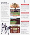 Old Time Baseball DOS Back Cover