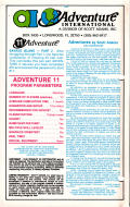 Savage Island Part Two Apple II Back Cover