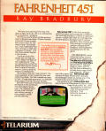 Fahrenheit 451 Apple II Back Cover