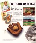 Old Time Baseball DOS Inside Cover Left Flap