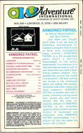 Armored Patrol TRS-80 Back Cover