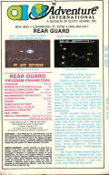 Rear Guard TRS-80 Back Cover