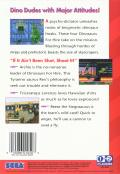 Tom Mason's Dinosaurs for Hire Genesis Back Cover