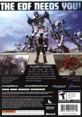 Earth Defense Force 2017 Xbox 360 Back Cover