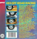 4x4 Off-Road Racing Commodore 64 Back Cover