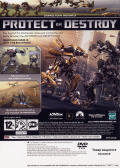 Transformers: The Game PlayStation 2 Back Cover