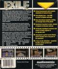 Exile Commodore 64 Back Cover