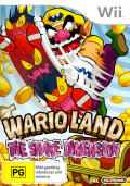 Wario Land: Shake It! Wii Front Cover