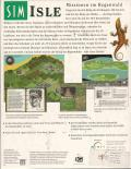 SimIsle: Missions in the Rainforest DOS Back Cover