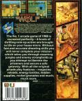 Operation Wolf MSX Back Cover