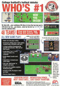 Bill Walsh College Football  Genesis Back Cover